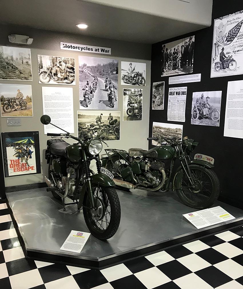 Motorcycle at war
