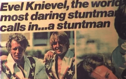 Gary Davis and Evel Knievel